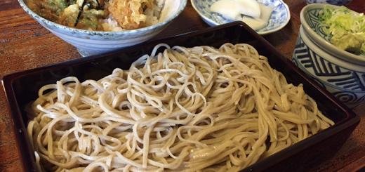 ざるそばミニ天丼セット(1,000円)