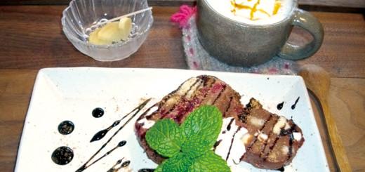 チョコのテリーヌとキャラメルミルク(1,030円/税別)